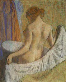 After the Bath, Woman with a Towel | Degas | Painting Reproduction