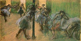 Dancers Rehearsing, c.1895/98 by Degas | Painting Reproduction