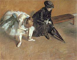 Waiting, c.1880/82 by Degas | Painting Reproduction