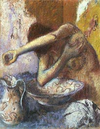 Woman at her Toilet, c.1887 by Degas | Painting Reproduction