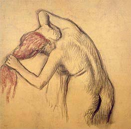 Woman Drying Herself | Degas | Painting Reproduction