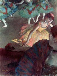 Ballerina and Lady with a Fan, 1885 by Degas | Painting Reproduction