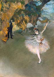 The Star (Dancer on the Stage), c.1876/77 by Degas | Painting Reproduction