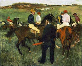 Racehorses (Leaving the Weighing) | Degas | Painting Reproduction
