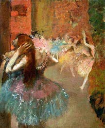 Ballet Scene, undated by Degas | Painting Reproduction