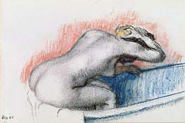 Woman Washing in the Bath | Degas | Painting Reproduction