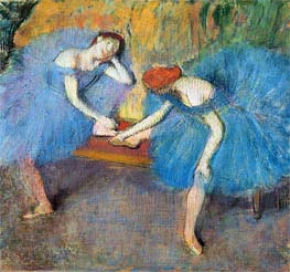 Two Dancers at Rest (Dancers in Blue) | Degas | Painting Reproduction