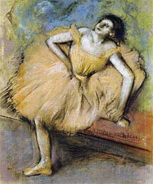 Seated Dancer, c.1894 by Degas | Painting Reproduction