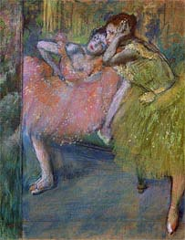 Two Dancers in the Foyer | Degas | Painting Reproduction