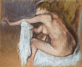 Woman Drying her Arm | Degas | Painting Reproduction