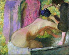 Woman at Her Bath | Degas | Painting Reproduction