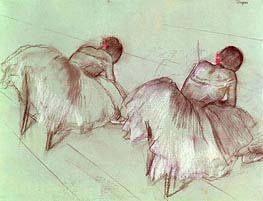 Two Ballet Dancers Resting | Degas | Painting Reproduction