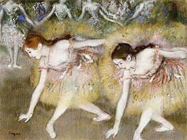 Dancers Bending Down | Degas | Gemälde Reproduktion