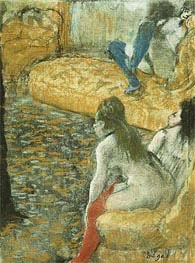 Waiting for a Client, undated by Degas | Painting Reproduction