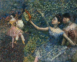 Dancer with a Tambourine, c.1897 by Degas | Painting Reproduction