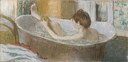 Woman in her Bath, Sponging her Leg, c.1883 by Degas | Painting Reproduction