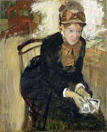 Portrait of Mary Cassatt, c.1880/84 by Degas | Painting Reproduction
