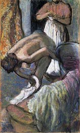 Breakfast After the Bath (Young Woman Drying Herself), c.1894 by Degas | Painting Reproduction