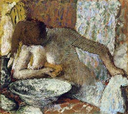 Woman at her Toilet, c.1897 by Degas | Painting Reproduction