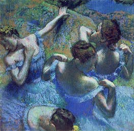 Blue Dancers, c.1899 by Degas | Painting Reproduction