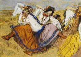 Russian Dancers, undated by Degas | Painting Reproduction