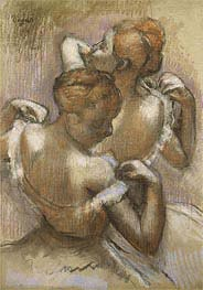 Two Dancers Adjusting their Shoulder Straps | Degas | Painting Reproduction