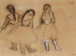 Three Dancers | Degas | Painting Reproduction