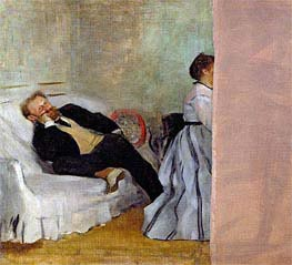 Monsieur and Madame Edouard Manet | Degas | Painting Reproduction