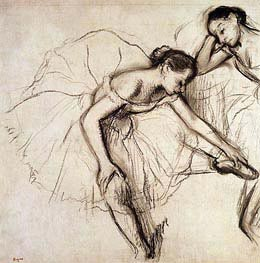 Two Dancers Resting | Degas | Painting Reproduction
