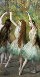 Green Dancers | Degas | Painting Reproduction