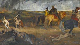 Scene of War in the Middle Ages, c.1865 by Degas | Painting Reproduction