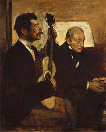 Degas's Father Listening to Lorenzo Pagans Playing the Guitar | Degas | Painting Reproduction