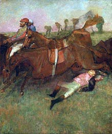 Scene from the Steeplechase: The Fallen Jockey | Degas | Painting Reproduction