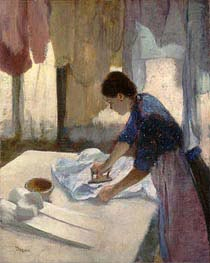 Woman Ironing | Degas | Painting Reproduction