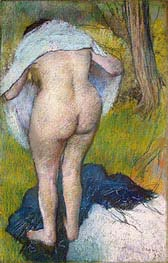 Girl Drying Herself | Degas | Painting Reproduction