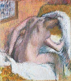 Woman Drying Her Hair, c.1905 von Degas | Gemälde-Reproduktion