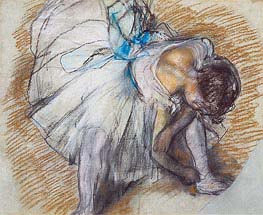 Dancer Adjusting her Shoe, 1885 von Degas | Gemälde-Reproduktion