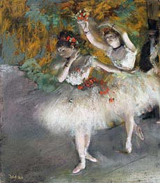 Two Dancers Entering the Stage, c.1877/78 von Degas | Gemälde-Reproduktion