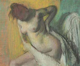 Woman Drying Herself | Degas | Gemälde Reproduktion