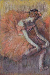 Dancer Adjusting her Shoe, c.1896 von Degas | Gemälde-Reproduktion