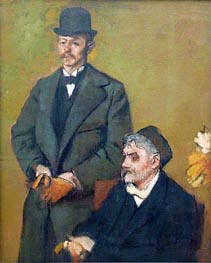 Henri Rouart with His Son Alexis | Degas | Painting Reproduction