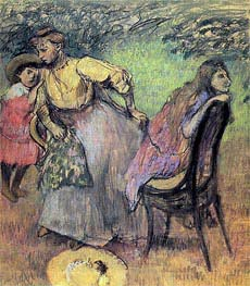 Madame Rouart with her Children | Degas | Painting Reproduction