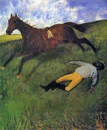 The Fallen Jockey | Degas | Gemälde Reproduktion