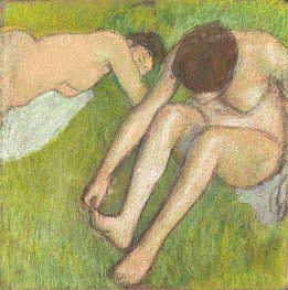Two Bathers on the Grass | Degas | Painting Reproduction
