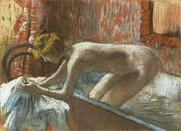 Woman Leaving Her Bath | Degas | Painting Reproduction