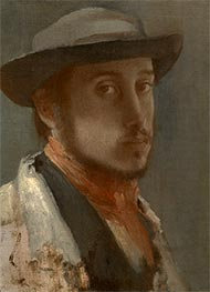 Self-Portrait, c.1857/58 by Degas | Painting Reproduction