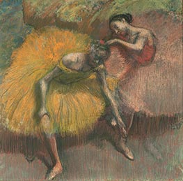 Two Dancers Yellow and Pink | Degas | Painting Reproduction