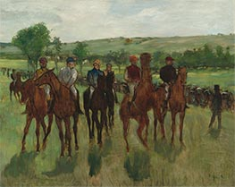 The Riders, c.1885 by Degas | Painting Reproduction