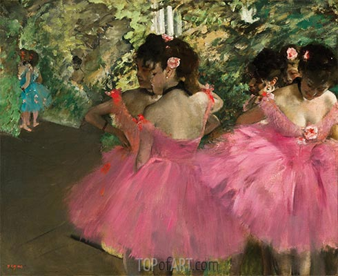Dancers in Pink, c.1876 | Degas | Painting Reproduction
