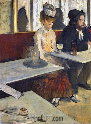 The Absinthe Drinker (In a Cafe), c.1875/76 | Degas | Painting Reproduction